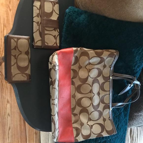 Coach Handbags - Coach purse with matching wallet
